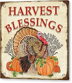 Acrylic Print featuring the painting Thanksgiving-e by Jean Plout