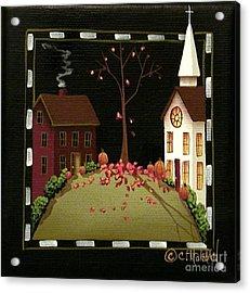 Thanksgiving In Kirkwood Village  Acrylic Print by Catherine Holman