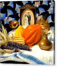 Acrylic Print featuring the painting Thanksgiving Of The Past by Donelli  DiMaria