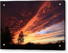 Acrylic Print featuring the photograph Thanksgiving Sunset by Gary Kaylor