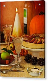 Thanksgiving Table Acrylic Print by Amanda Elwell