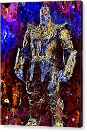 Acrylic Print featuring the mixed media Thanos by Al Matra