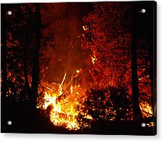 Acrylic Print featuring the photograph That Ain't No Campfire by DeeLon Merritt