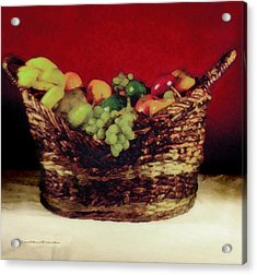 That Basket Of Fruits Painting Acrylic Print