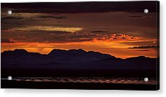 That Final Glimpse Into Abyss On The Brink Of Eruption Acrylic Print