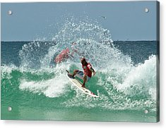 Acrylic Print featuring the photograph That Kelly Slater Wave Magic by Odille Esmonde-Morgan