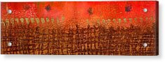 That Long Brown Fence Dividing You And Me Acrylic Print by Angela L Walker