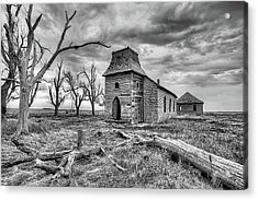 Acrylic Print featuring the photograph That Old Time Religion Black And White by JC Findley