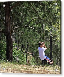 Acrylic Print featuring the photograph That Ole' Rope Swing by Kim Henderson