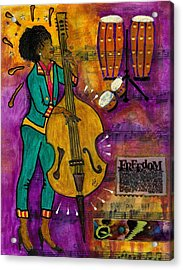 That Sistah On The Bass Acrylic Print
