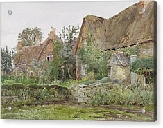 Thatched Cottages And Cottage Gardens Acrylic Print by John Fulleylove
