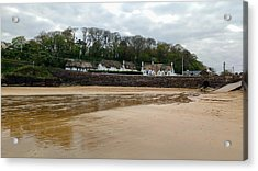 Thatched Cottages In Dunmore East Ireland  Acrylic Print