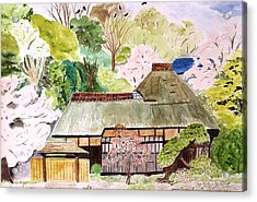 Thatched Japanese House Acrylic Print