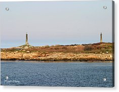 Thatcher Island Twin Lights Gloucester Massachusetts Acrylic Print