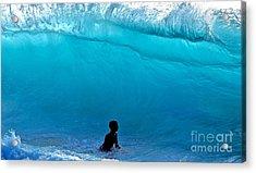 That's A  Wave - Kekaha Beach Acrylic Print by Debra Banks