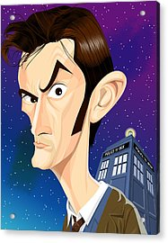 The 10th Doctor Acrylic Print by Kevin Greene