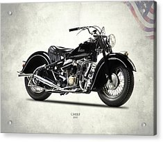 The 1947 Chief Acrylic Print by Mark Rogan