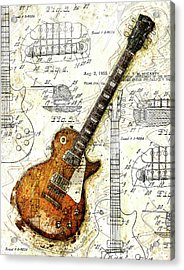 The 1955 Les Paul Custom Acrylic Print