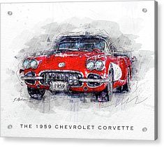 The 1959 Chevrolet Corvette Acrylic Print