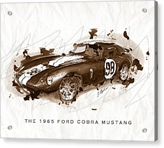The 1965 Ford Cobra Mustang Acrylic Print by Gary Bodnar