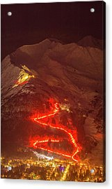 The 2016 Alyeska Torch Light Parade II Acrylic Print by Tim Grams