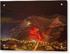 The 2016 Alyeska Torch Light Parade Acrylic Print by Tim Grams
