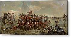 The 28th Regiment At Quatre Bras Acrylic Print