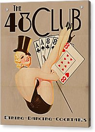 The 48 Club Acrylic Print by Cinema Photography