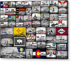 The 50 States And Their Battleships Acrylic Print by JC Findley