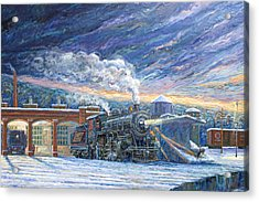 The 501 In Winter Acrylic Print by Gary Symington
