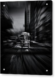 Acrylic Print featuring the photograph The 512 St. Clair Streetcar Toronto Canada Flow by Brian Carson