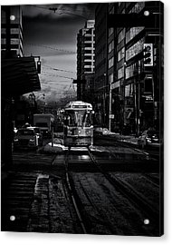 Acrylic Print featuring the photograph The 512 St.clair Streetcar Toronto Canada by The Learning Curve Photography