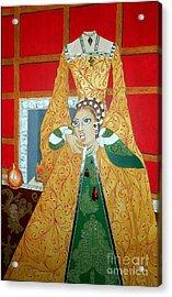 The 5th, Beheaded -- Tudor Portrait, Catherine Howard, #3 In Famous Flirts Series Acrylic Print