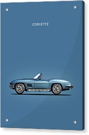 The 67 Corvette Stingray Acrylic Print by Mark Rogan