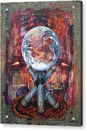 the 7 contemporary sins - Wrath Acrylic Print by Janelle Schneider