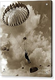 The 82nd Airborne  Hits The Silk Fort Ord 1953 Acrylic Print