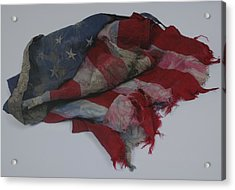 The 9 11 W T C Fallen Heros American Flag Acrylic Print