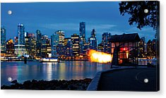 The 9 O'clock Gun In Vancouver Acrylic Print