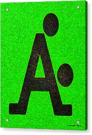The A With Style - Pa Acrylic Print