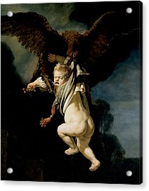 The Abduction Of Ganymede Acrylic Print by Rembrandt