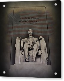 The Abraham Lincoln Memorial Acrylic Print by Bill Cannon