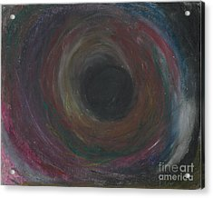 Acrylic Print featuring the pastel The Abyss  by Ania M Milo