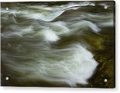 Acrylic Print featuring the photograph The Action On Top by Mike Eingle