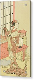 The Actor Segawa Kikunojo II, Possibly As Princess Ayaori In The Play Ima O Sakari Suehiro Genji  Acrylic Print