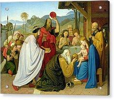 The Adoration Of The Kings Acrylic Print by Bridgeman