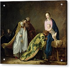 The Adoration Of The Magi Acrylic Print by Pieter Fransz de Grebber