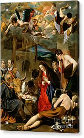 The Adoration Of The Shepherds Acrylic Print by Fray Juan Batista Maino or Mayno
