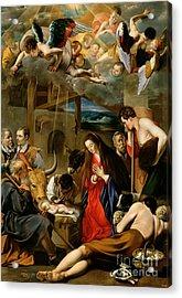 The Adoration Of The Shepherds Acrylic Print by Fray Juan Batista Maino or Mayno