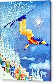 The Aerial Skier 18 Acrylic Print by Hanne Lore Koehler