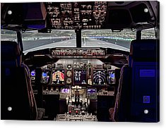The Airline Pilot Office Acrylic Print by JC Findley